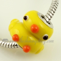 duck murano glass animal beads for fit charms bracelets