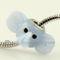 elephant murano glass big hole beads for fit charms bracelets