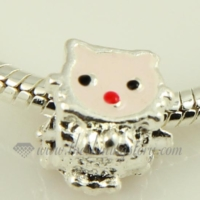enamel european big hole charms fit for bracelets