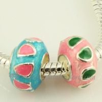 enamel european large hole charms fit for bracelets