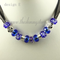european charms necklaces with murano glass crystal beads