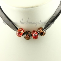 european charms necklaces with murano glass beads