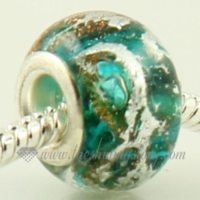 european foil murano glass beads for fit charms bracelets