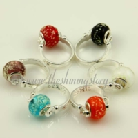 european luminous murano glass beads finger rings jewelry