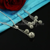 filigree toggle necklaces and dangle earrings jewelry sets