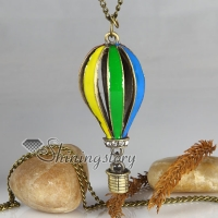 fire balloon antique long chain pendants necklaces