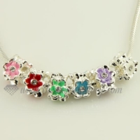 flower enamel european charms fit for bracelets