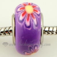 flower polymer clay beads for fit charms bracelets