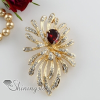 flower rhinestone filigree scarf brooch pin jewelry