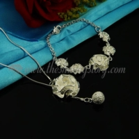 flower rose toggle necklaces and bracelets jewelry sets