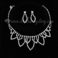 formal wedding bridal prom rhinestone chandelier jewelry sets 3