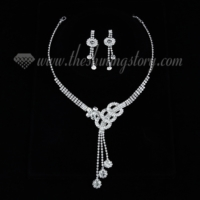 formal wedding bridal prom rhinestone tassel jewelry sets