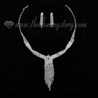 formal wedding bridal prom rhinestone twist tassel jewely sets