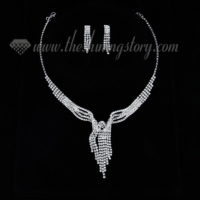 formal wedding bridal rhinestone chandelier necklaces and earrings 4