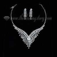 formal wedding bridal rhinestone chandelier necklaces and earrings