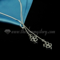 four clover pendant 925 sterling silver plated necklaces jewelry