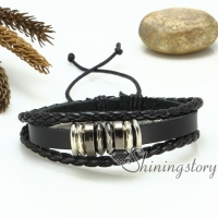 genuine leather drawstring bracelets woven charm bracelet wristbands bracelets adjustable bracelets