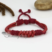 genuine leather drawstring wrap bracelets