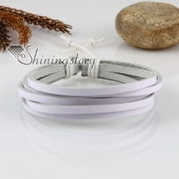 genuine leather multi layer wristbands adjustable drawstring bracelets unisex