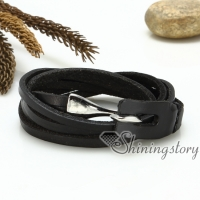 genuine leather wrap bracelets multi triple layers hook bracelets for men and women unisex handmade handcrafted jewelry