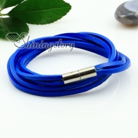genuine leather wrap double layer wristbands bracelets unisex