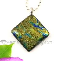 handmade dichroic glass necklaces pendants jewelry