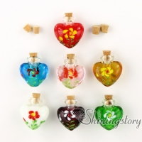 heart perfume bottle handmade murano glassglass vial pendantmemorial urn jewelrycremation ashes jewelry lampwork glass memorial urn jewelry