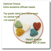 heart shape lava stone beads ssential oil diffuser 100 pc a lot