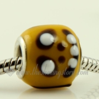 lampwork glass large hole beads for fit charms bracelets