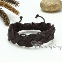leather wrap bracelets mix color lot mesh woven bracelet wristbands handcraft macrame drawstring bracelets fashion jewelry