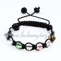 macrame faced glass crystal beads bracelets jewelry armband
