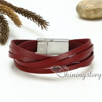 multi layer wrap leather genuine leather bracelets handmade handcraf bracelets jewelry for men and women unisex