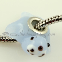 murano glass animal large hole beads for fit charms bracelets