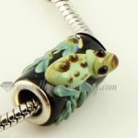 murano glass large hole beads for fit charms bracelets
