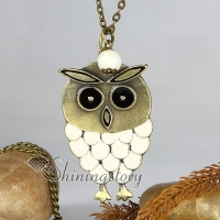 new arrival owl antique long chain pendants necklaces