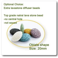 oblate shape lava stone beads essential oil diffuser 100 pc a lot