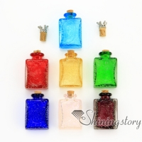 oblong luminous murano glass hand craft lampwork glassglass vial for necklacekeepsake jewelryurns jewelry