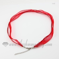 organza ribbon necklaces cord for pendants jewelry