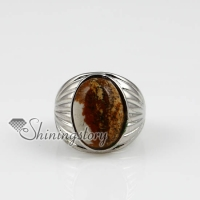 oval semi precious stone natural turquoise finger rings jewelry