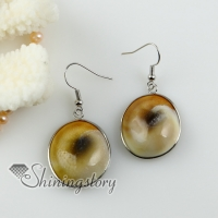 oval yellow oyster shell dangle earrings cheap china jewelry fashion jewelry
