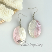 oyster sea shell round oval heart teardrop patchwork dangle earrings mother of pearl jewelry