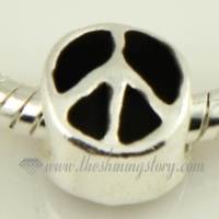 peace sign enamel european charms fit for bracelets