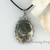 penguin oyster shell rhinestone lady's head sea turtle openwork cameo necklaces with pendants necklaces mop jewellery