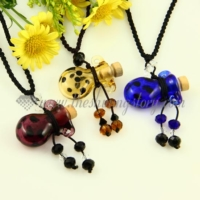 vintage perfume bottle pendant necklace empty small glass vial necklace pendants wholesale distributor top quality lampwork glass jewellery hand blowm
