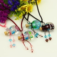 necklace vials for ashes small wish bottle pendant necklace wholesale distributor handcrafted lampwork glass with flower jewellery