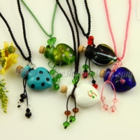 necklace vials for ashes aromatherapy pendants necklace wholesale distributor venetian lampwork glass jewellery