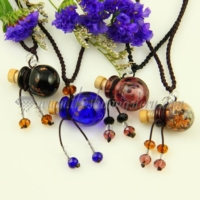 empty small glass vial necklace pendants aromatherapy pendants necklace wholesale distributor venetian lampwork glass glitter jewellery hand blowm