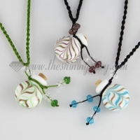 small wish bottle pendant necklace vintage perfume bottle pendant necklace wholesale supplier handcrafted murano glass jewelry
