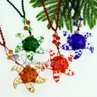 small wish bottle pendant necklace essential oil diffuser necklaces wholesale supplier italian murano glass jewelry