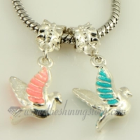 pigeon dangle european big hole charms fit for bracelets